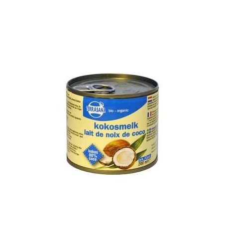 Lait de coco 200ml, TERRASANA, Condiments
