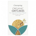 Clearspring - Biscuits d'avoine algues & poivre 200g