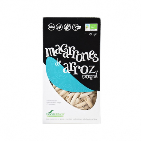 Soria Macaroni de riz (sans gluten & bio) 250g, SORIA, Graines,