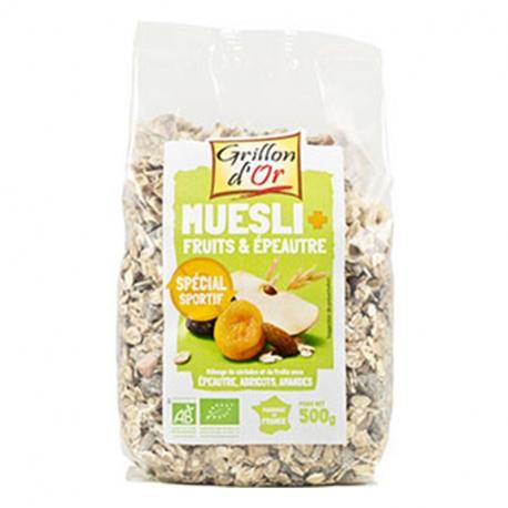Muesli fruits-épeautre 500g, GRILLON D'OR, Céréales Petit