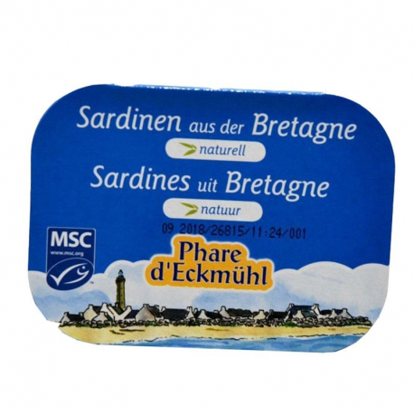 Sardines Naturelles 135g, Phare d'Eckmuhl, Sardines