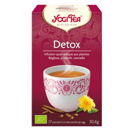 Detox 1 x17 zakjes,Thee en kruidenthee