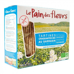 PAIN DES FLEURS Cracottes au sarrasin (bio et sans sel) 150g,