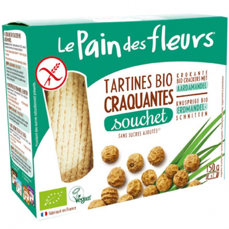 PAIN DES FELURS Crackers met tijgernoot biologisch 150g,Brood,
