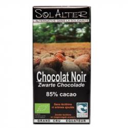 Chocolat 85% cacao 90g, SOLALTER, Chocolats