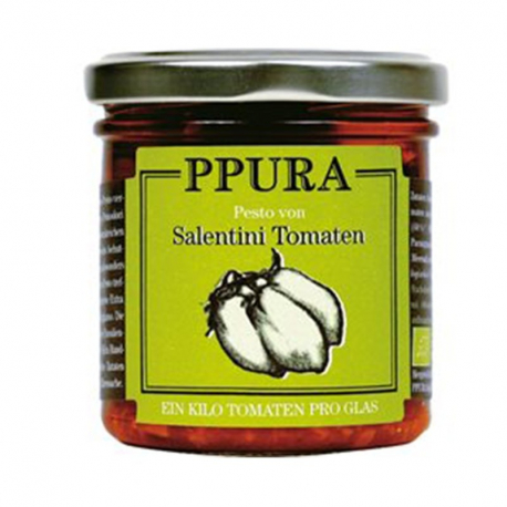 Pesto Tomates Salentini 140g, Ppura, Anti pasti et tapenades