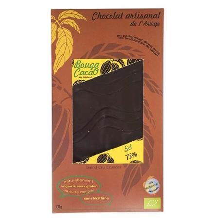 Pure chocolade met zout biologisch 70g,Chocolaatjes