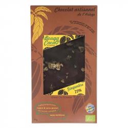 BOUGA CACAO Chocolat noir Gingembre Bio 70g