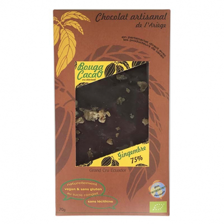 Dark Chocolate with Ginger (organic) 70g