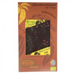 Chocolat noir Thym et Poivre Bio 70g
