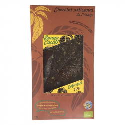 BOUGA CACAO Chocolat noir café -Canelle Bio 70g, Bouga Cacao,