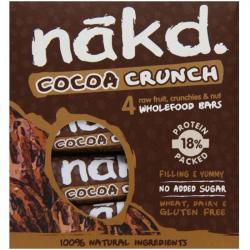 Barres Nakd Crunch Cacao 4x30g, NAKD, Barres