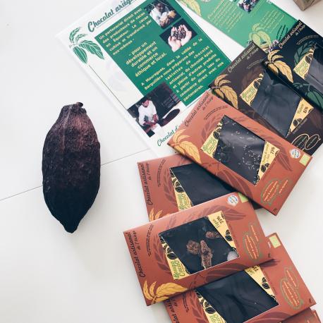 Pure Chocolade 75% naturel biologisch 70g,Chocolaatjes