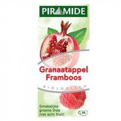 Piramide Groene thee met Granaatappel en Framboos 20