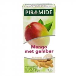 Piramide Groene thee met Mango en Gember 20 zakjes,Thee en