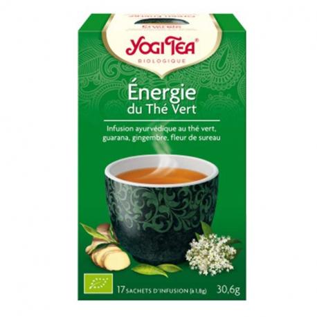 Energie du thé vert 1x17 sachets, YOGI TEA, Thés et Tisanes