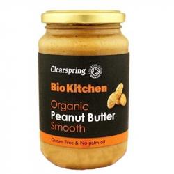 Beurre de cacahuètes lisse 350g, CLEARSPRING, Pâtes à tartiner