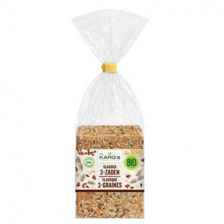 Dr Karg's Crackers classic 3 graines (sans sucre et bio) 200g,