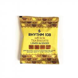 RHYTHM 108 Koekjes citroen gember 24g,Biscuits en zoetwaren