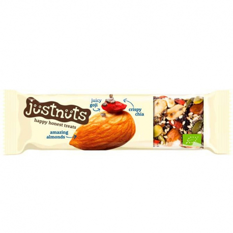 Just Nuts barre amandes goji et chia 30g, Just Nuts, Barres