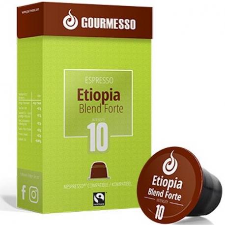 Café Capsules Ethiopia Blend Forte x10, Gourmesso, Café