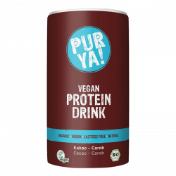 Purya proteïnendrank vegan cacao-johannesbroodboom 550g,Poeders
