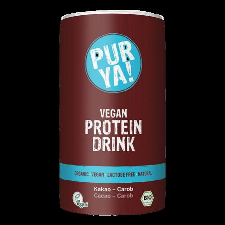 Purya boisson protéinée vegan cacao-caroube 550g, Purya, Poudres