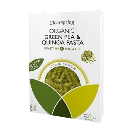 Fusilli de pois verts et quinoa 250g, CLEARSPRING, Céréales