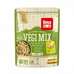 Lime vegi mix wilde rijst met gember en citroen 250g,Snelle