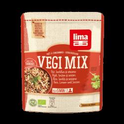 Lima Vegi mix met rijst, linzen en sesam 250g,Snelle koken