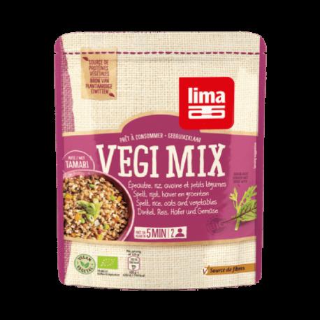 Lima Vegi mix épeautre, riz, avoine et légumes 250g, Lima,