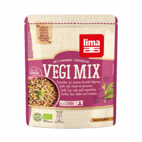 Lima Vegi mix spelt, rijst, haver en groenten 250g,Snelle koken