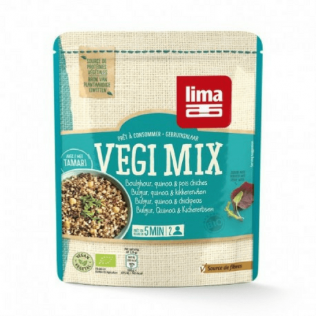 Lima Vegi mix bulgur, quinoa, kikkererwten 250g,Snelle koken
