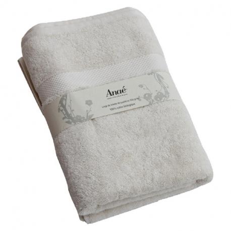 Drap de bain 70x140 bio (écru) Anae