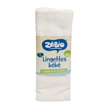 Lingettes pour bébé lavables bio 5x