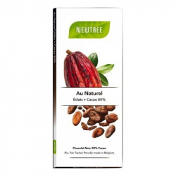 Tablette chocolat éclats de cacao & cacao 80% (80g) Bio Newtree