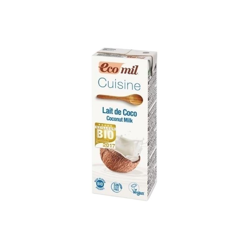 ecomil lait de coco pour la cuisine biologique