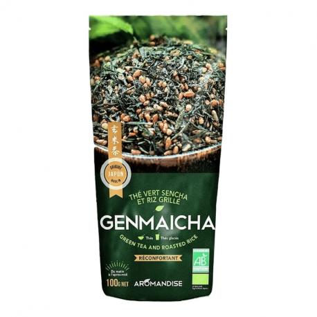 Aromandise - groene thee en rijst Genmaicha Bio 100g