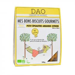 DAO - Biscuits gourmets épeautre amandes et citron 140g Bio