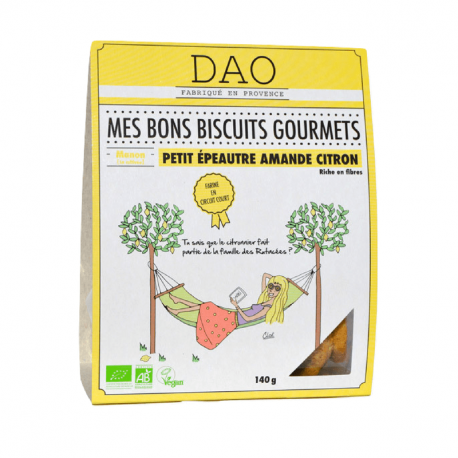 DAO - Gourmetkoekjes spelt amandelen en citroen 140g Bio