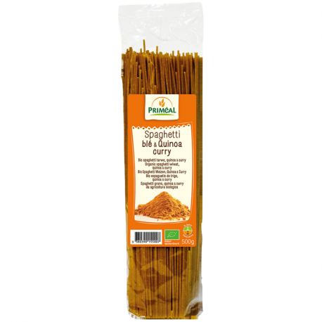 Priméal - Spaghetti Wheat & Quinoa Organische Curry 500g
