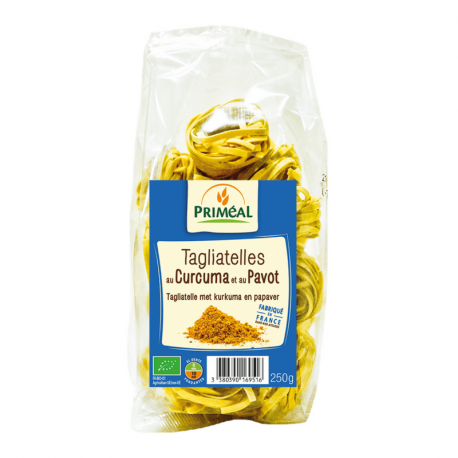 Priméal - Tagliatelle curcuma pavot Bio 250g