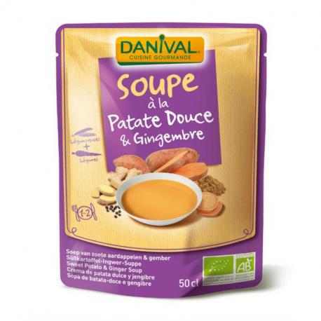 Danival - Biologische zoete aardappel- en gember soep 50cl