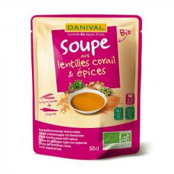 Danival - Coral linzen & specerijen soep 50cl BIo