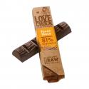 Lovechock - Pure chocoladereep, pecannoten en maca, biologisch en rauw 40gr