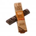 Lovechock - Dark chocolate bar, blackberry and vanilla organic and raw 40gr