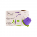 Bioco - café espresso 100% Arabica en capsules biodégradables 10x intensité forte