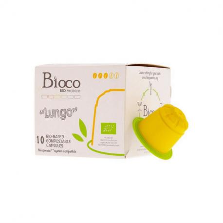 Bioco - espresso coffee 100% Arabica in biodegradable capsules 10x