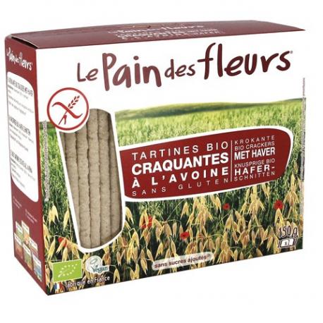 PAIN DES FLEURS Crackers met haver biologisch 150g