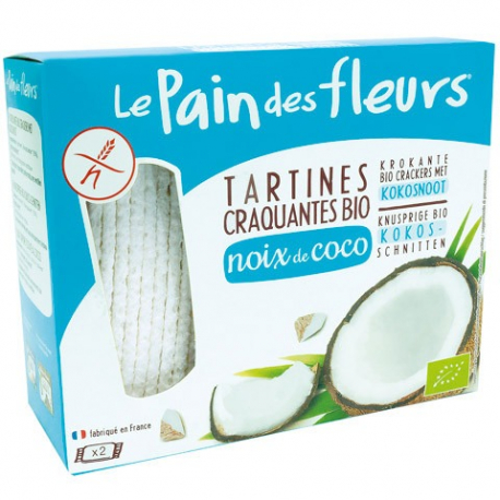 PAIN DES FLEURS Crackers met Coco biologisch 150g